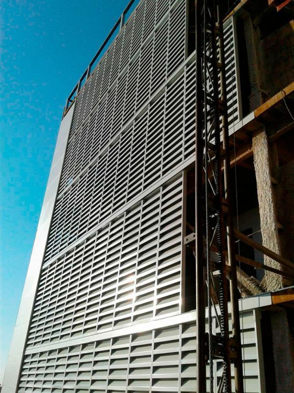 Instalação de venezianas industriais
